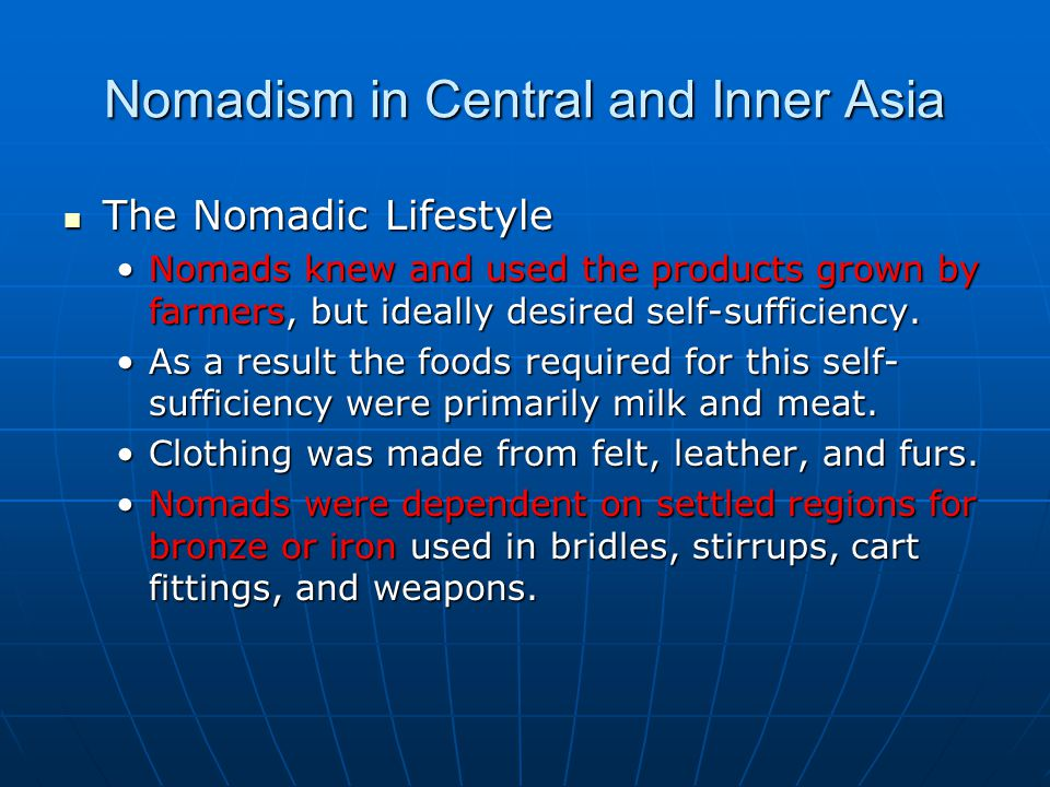 Nomadism in Central and Inner Asia