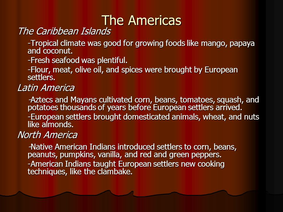 The Americas The Caribbean Islands