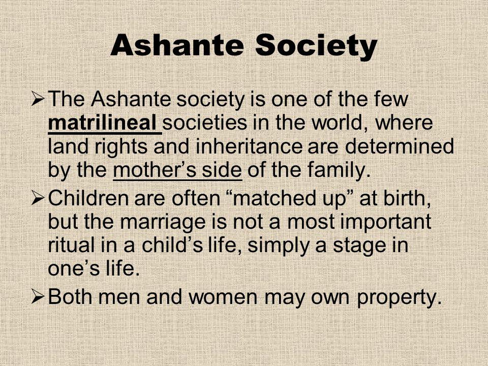 Ashante Society