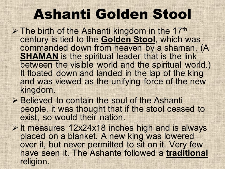 Ashanti Golden Stool