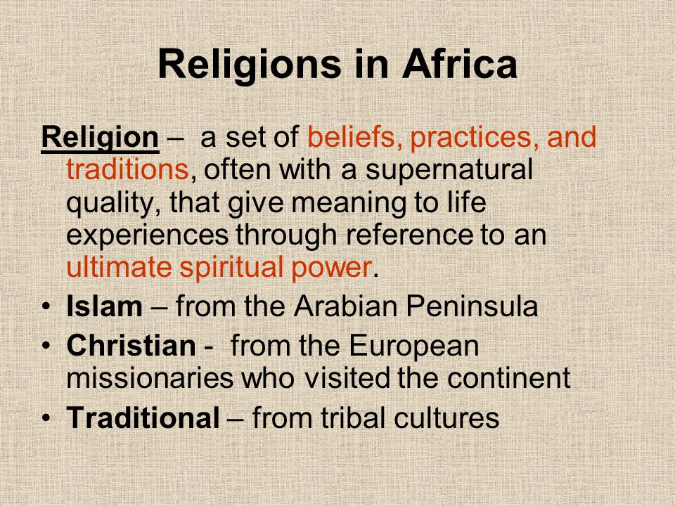 Religions in Africa