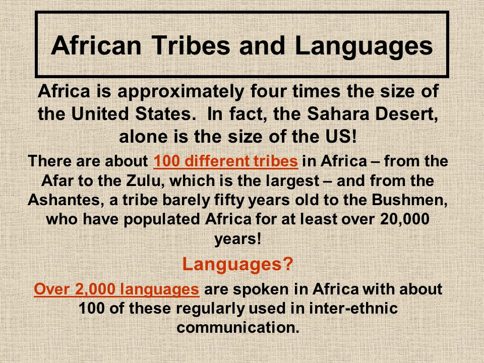 African Tribes and Languages