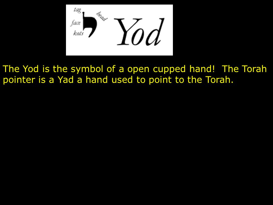 The Yod is the symbol of a open cupped hand