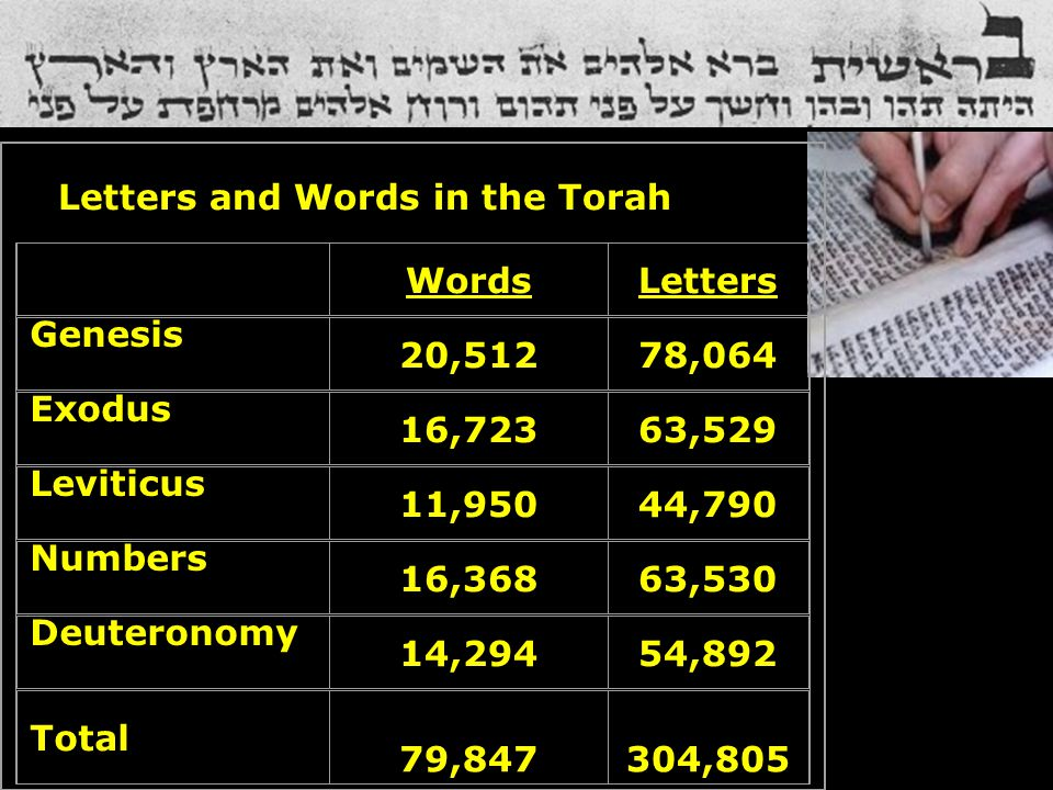 Letters and Words in the Torah
