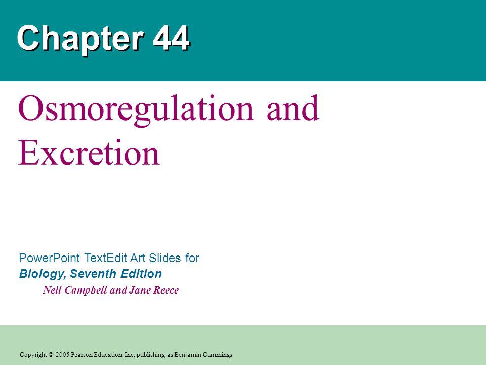 Osmoregulation and Excretion