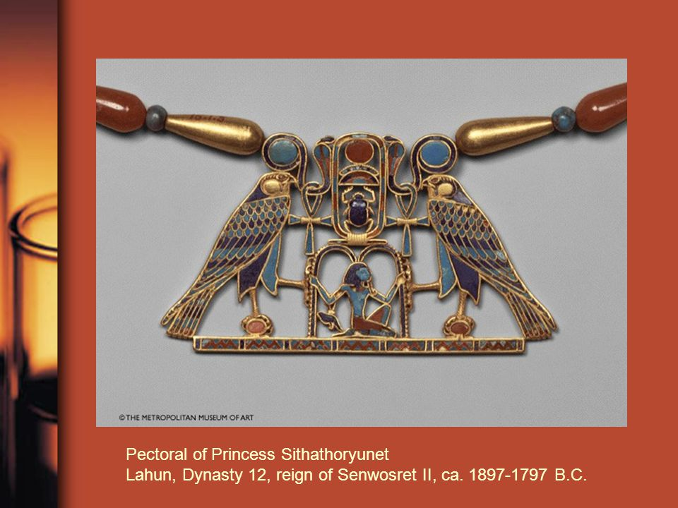 Pectoral of Princess Sithathoryunet Lahun, Dynasty 12, reign of Senwosret II, ca. 1897-1797 B.C.