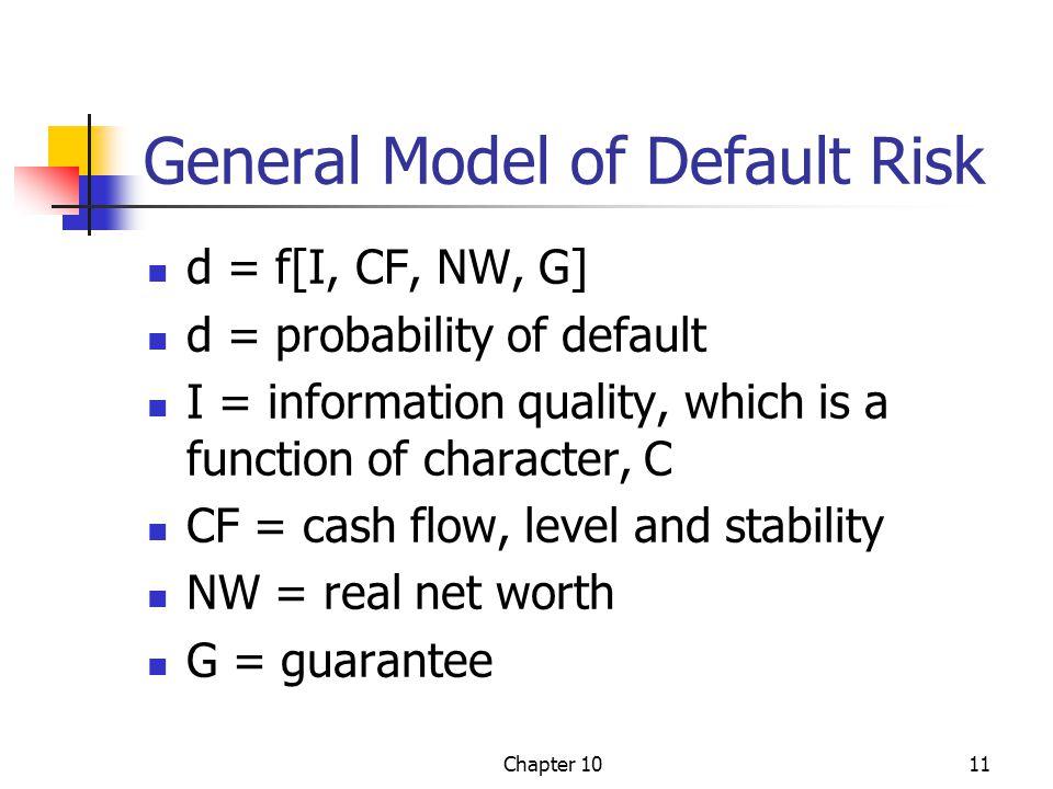 General Model of Default Risk