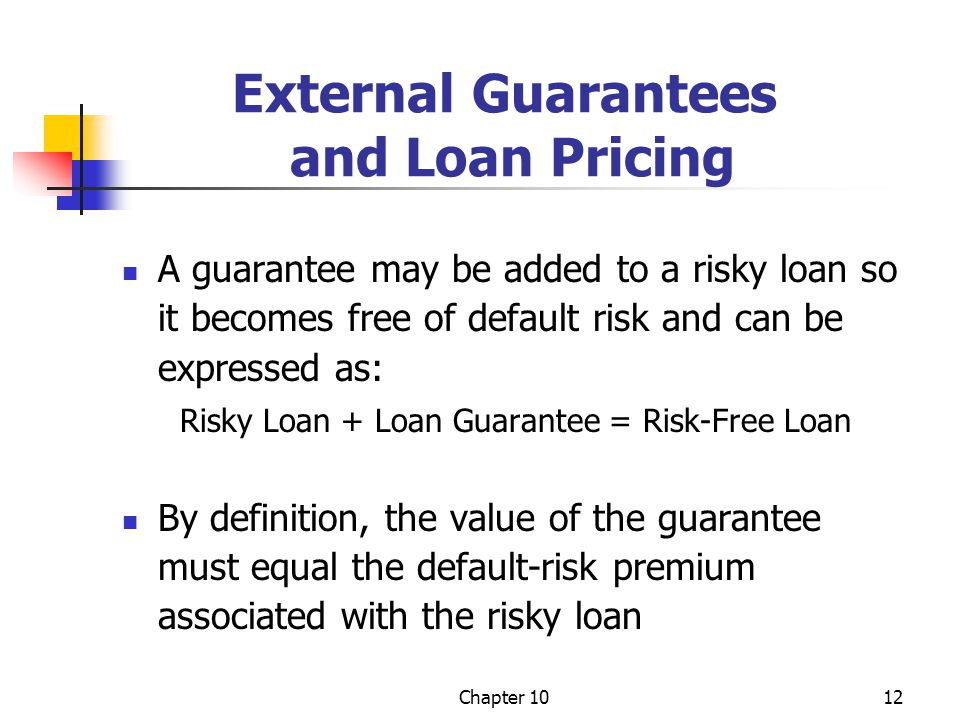 External Guarantees and Loan Pricing