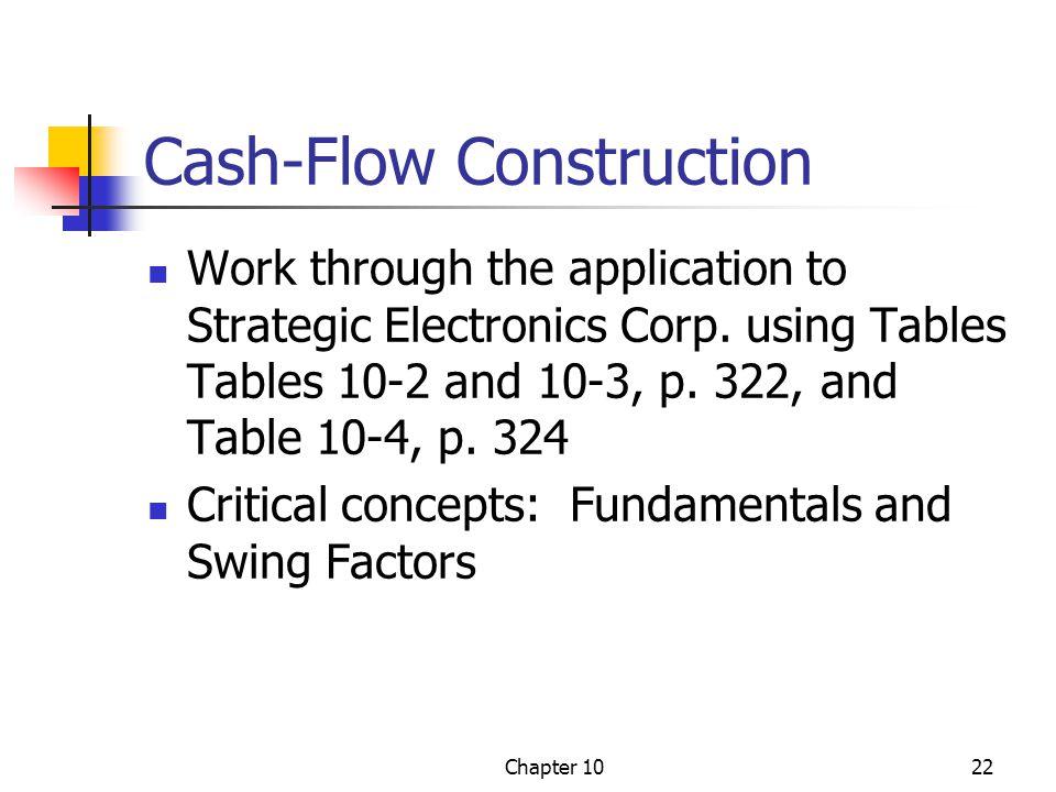 Cash-Flow Construction