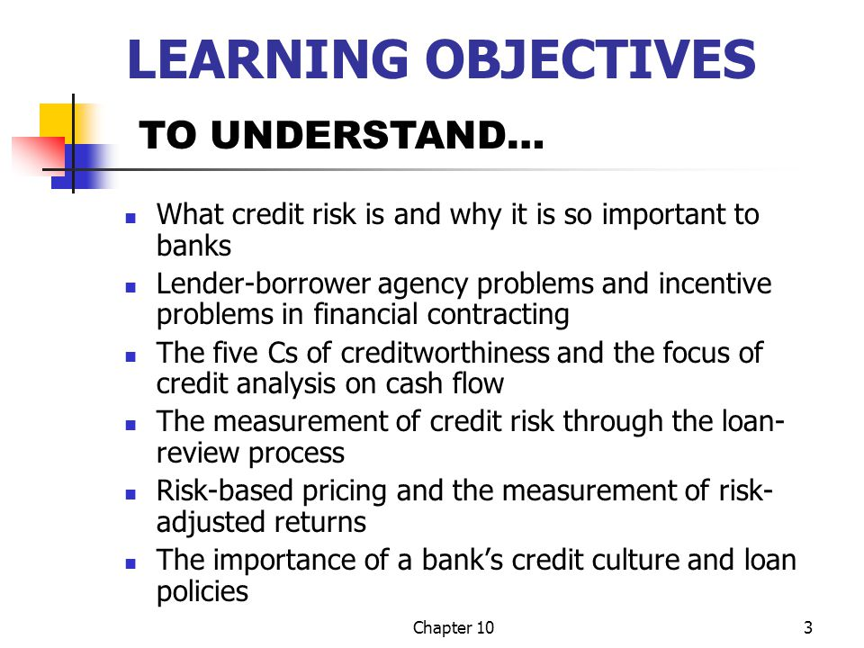 LEARNING OBJECTIVES TO UNDERSTAND…