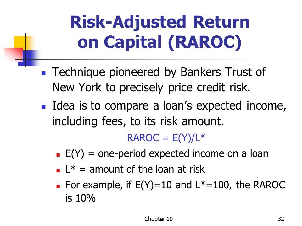Risk-Adjusted Return on Capital (RAROC)