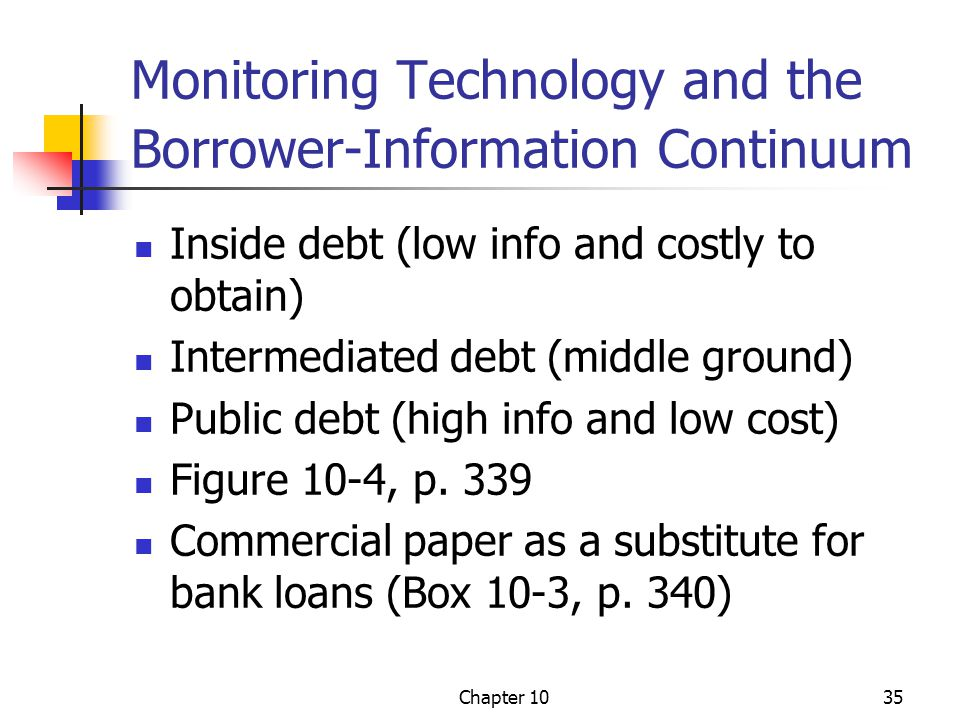 Monitoring Technology and the Borrower-Information Continuum