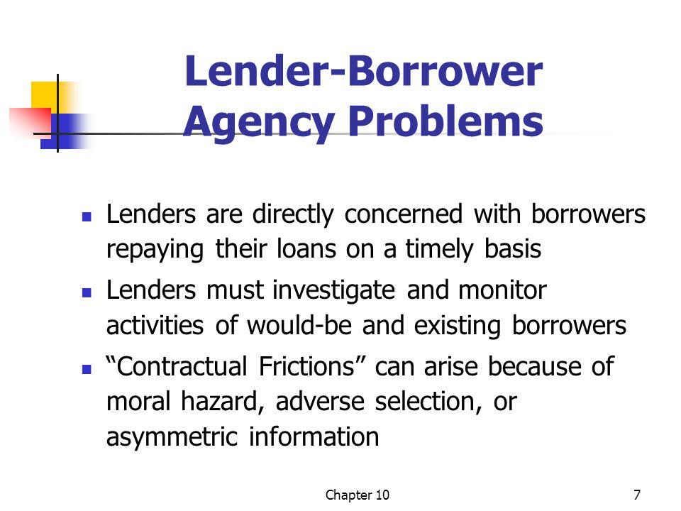 Lender-Borrower Agency Problems