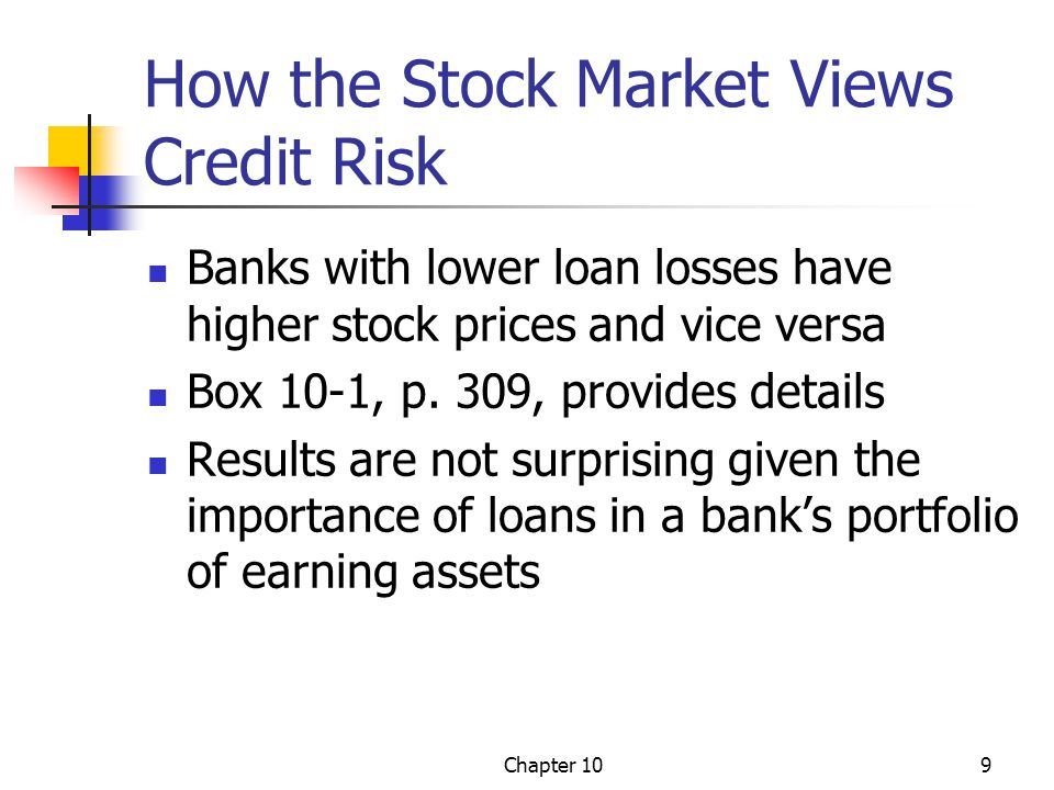 How the Stock Market Views Credit Risk