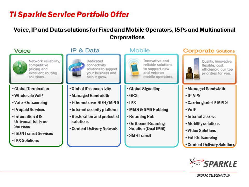 TI Sparkle Service Portfolio Offer