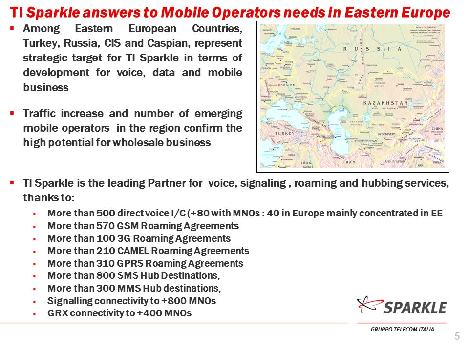 TI Sparkle answers to Mobile Operators needs in Eastern Europe