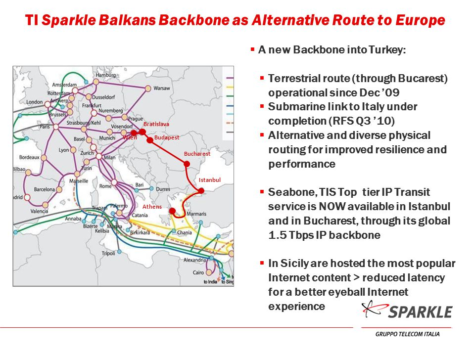 TI Sparkle Balkans Backbone as Alternative Route to Europe