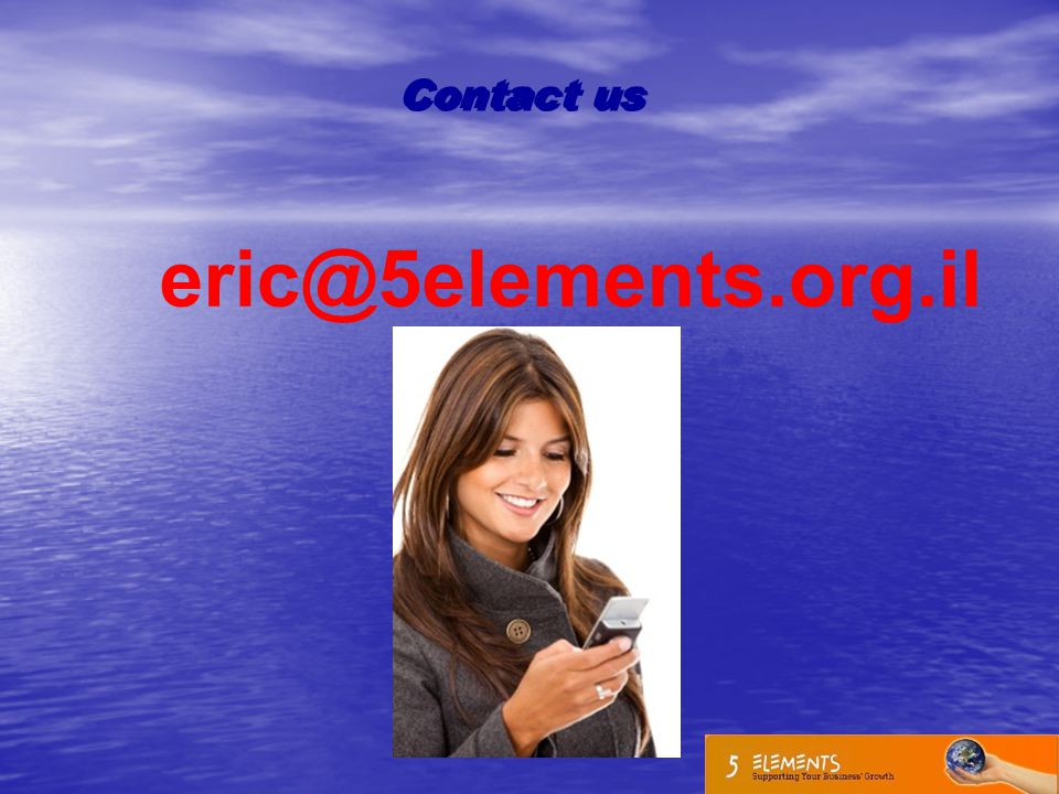 Contact us eric@5elements.org.il