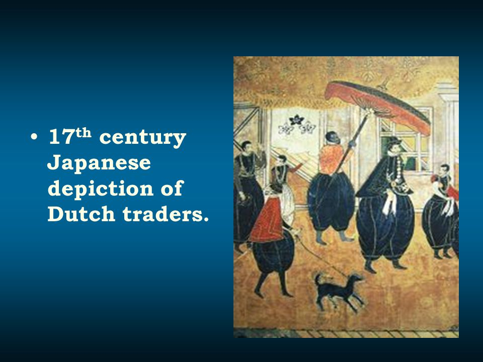 17th century Japanese depiction of Dutch traders.