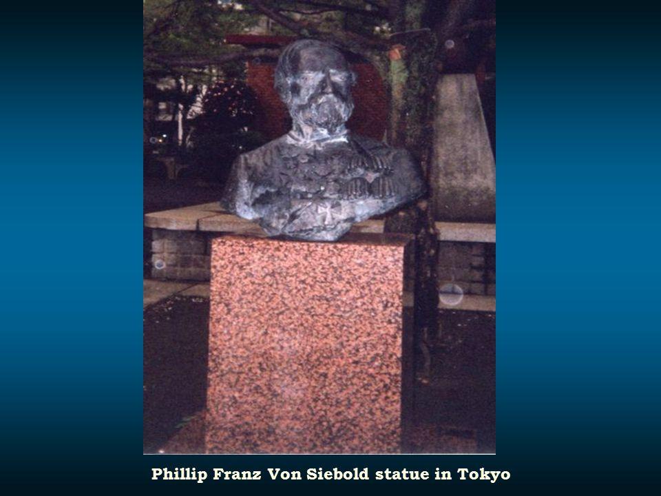 Phillip Franz Von Siebold statue in Tokyo