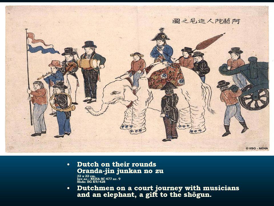 Dutch on their rounds Oranda-jin junkan no zu 32 x 22 cm. Inv. nr