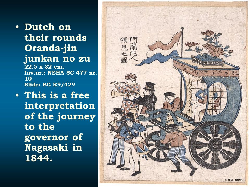 Dutch on their rounds Oranda-jin junkan no zu 22. 5 x 32 cm. Inv. nr