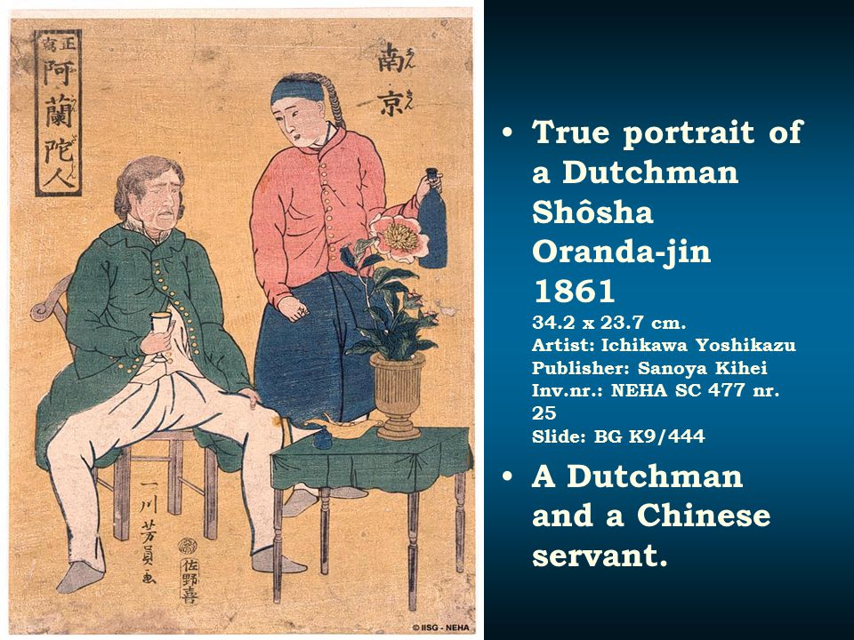 True portrait of a Dutchman Shôsha Oranda-jin 1861 34. 2 x 23. 7 cm