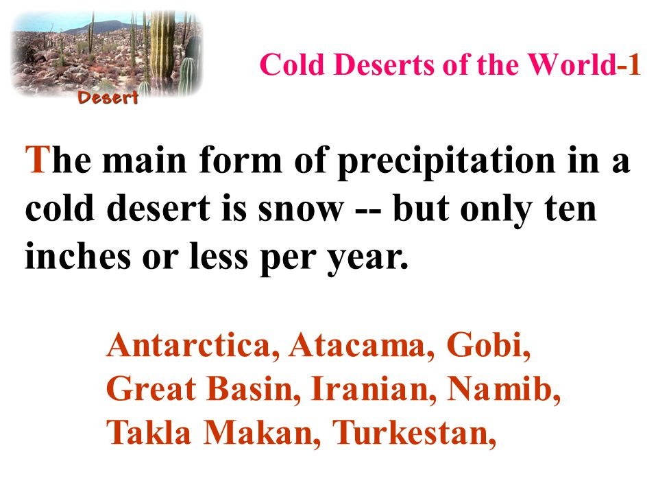 Cold Deserts of the World-1