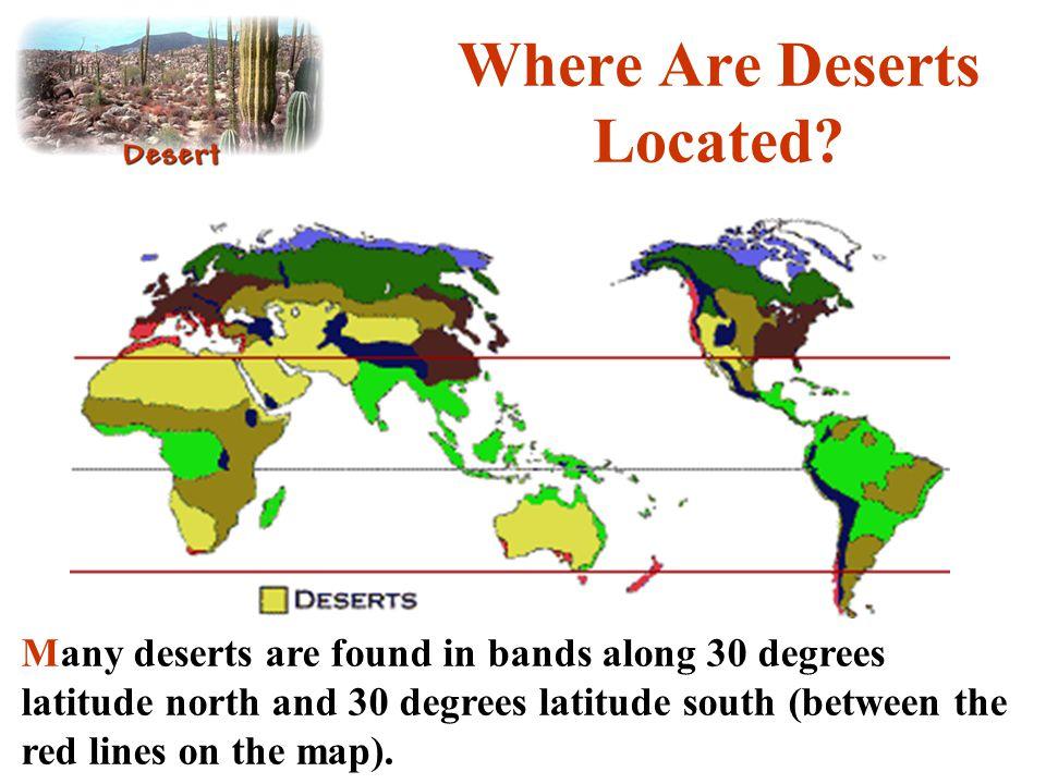 Where Are Deserts Located