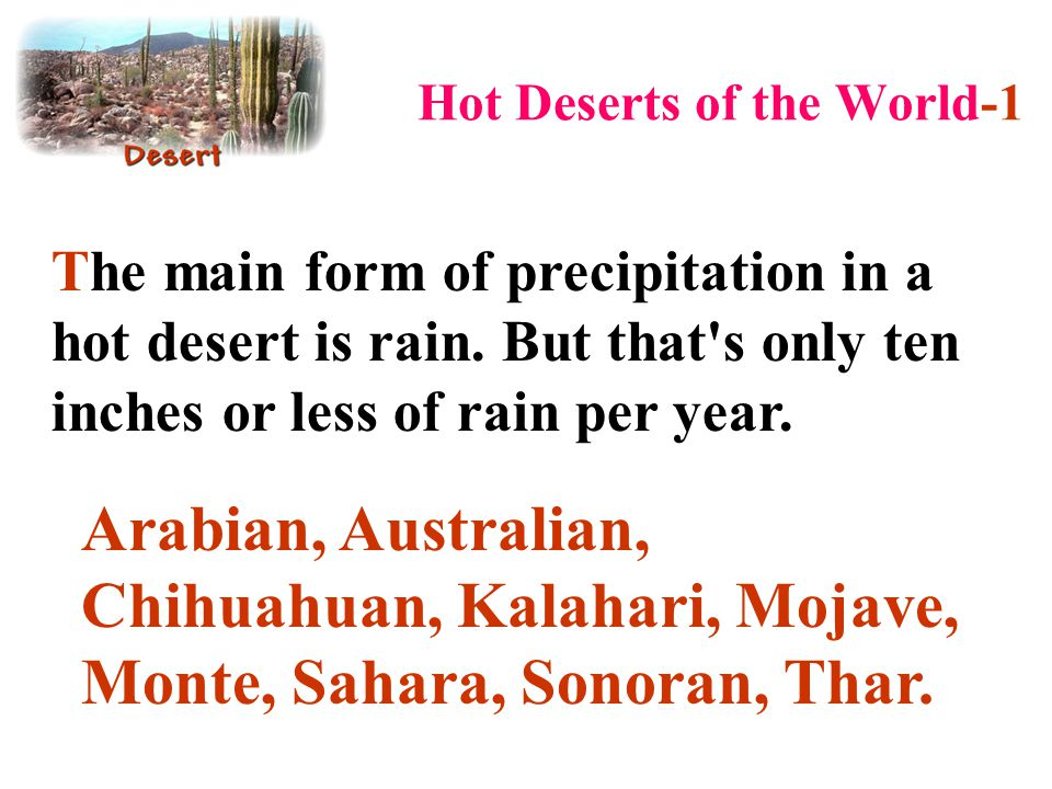 Hot Deserts of the World-1