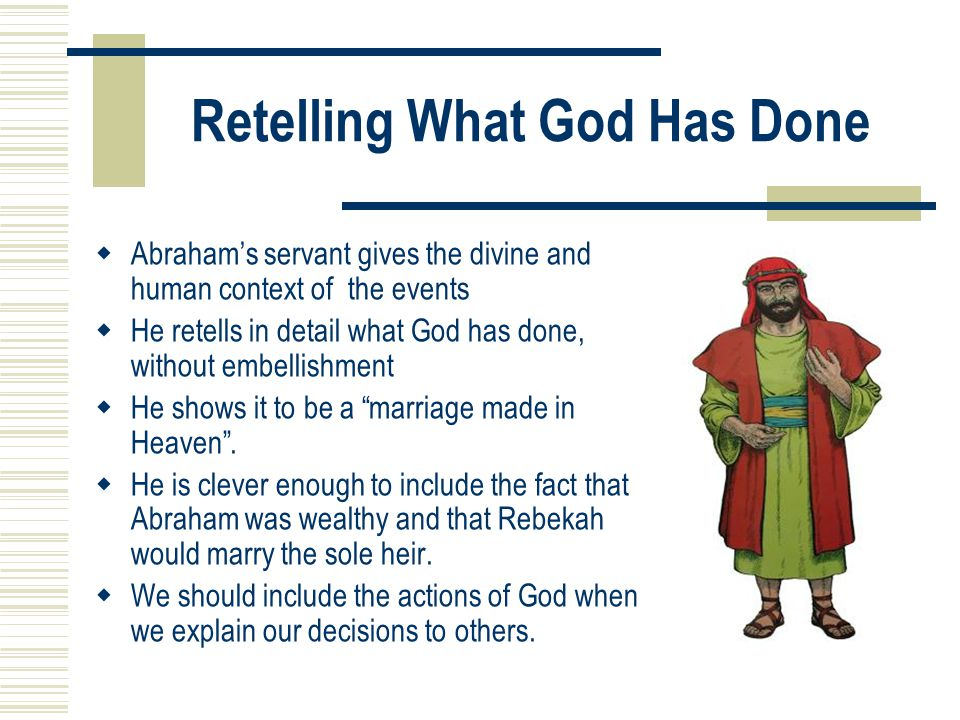 Retelling What God Has Done