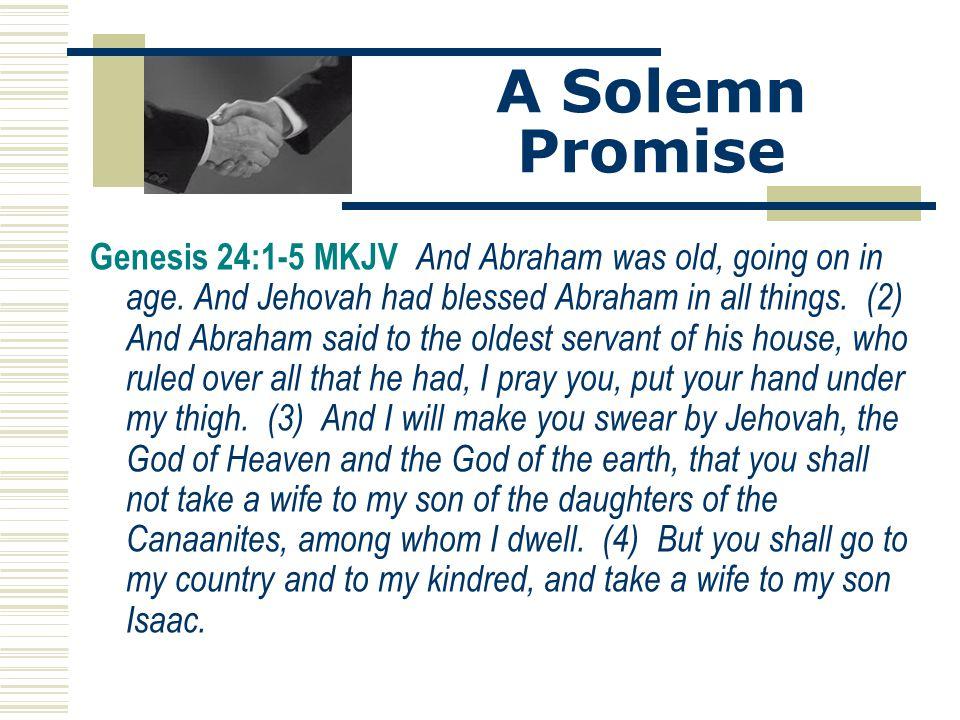 A Solemn Promise