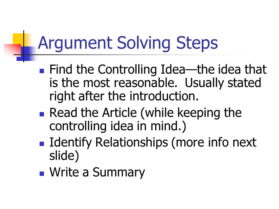 Argument Solving Steps