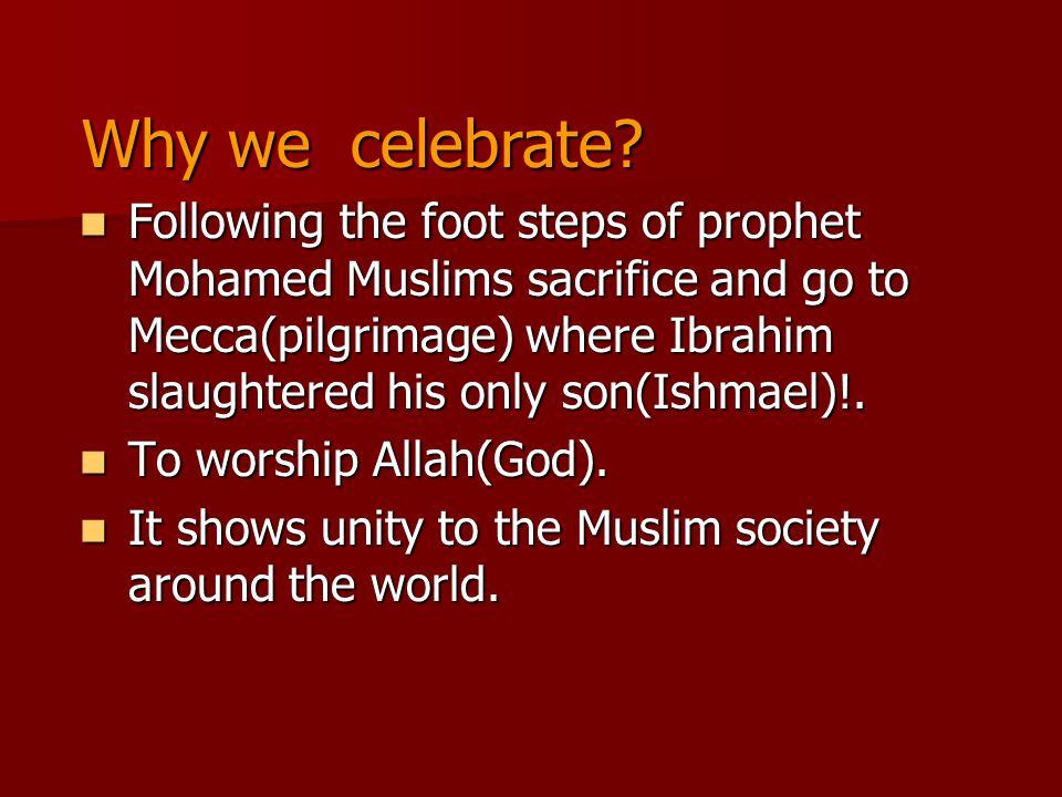 Why we celebrate