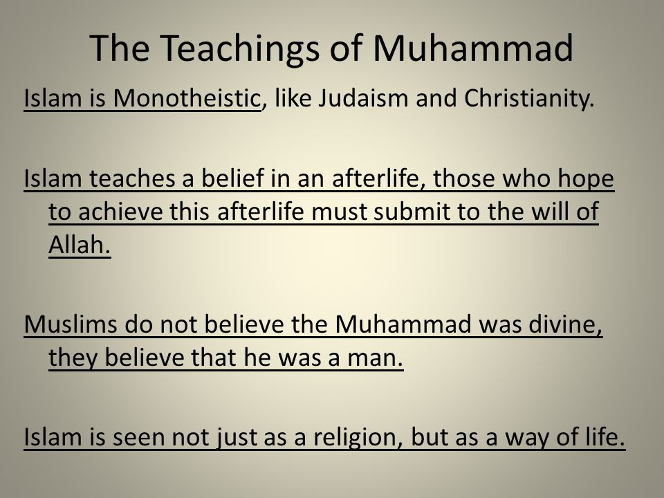 The Teachings of Muhammad