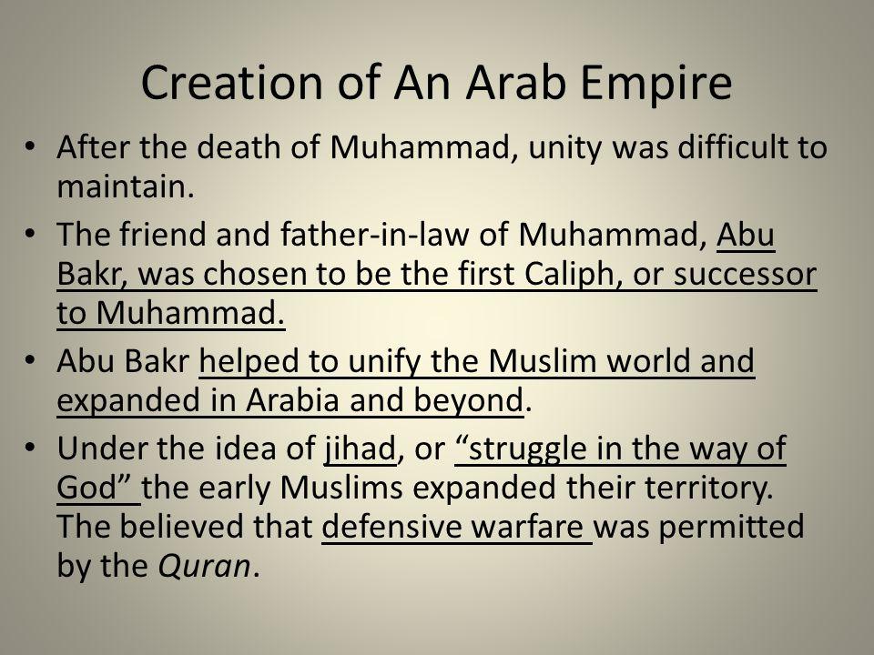 Creation of An Arab Empire