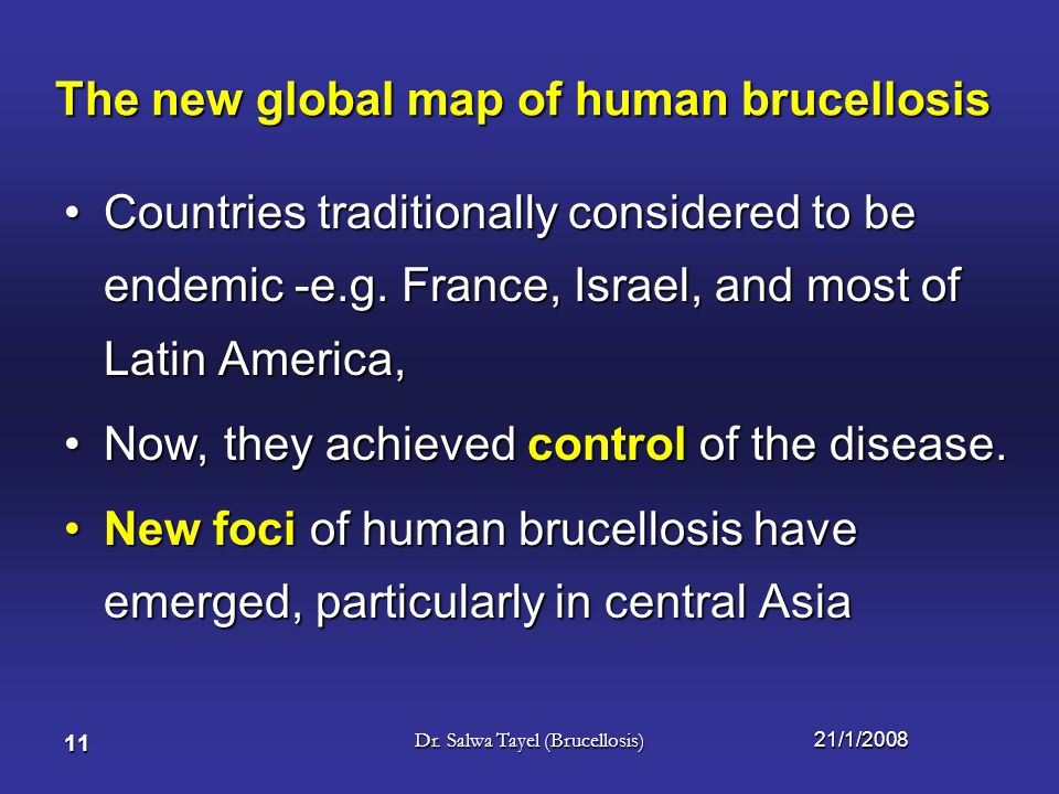 The new global map of human brucellosis