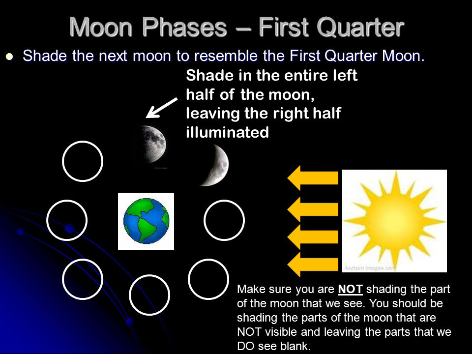 Moon Phases – First Quarter