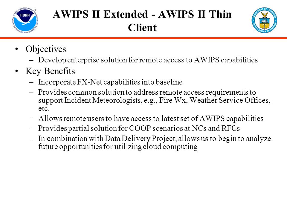 AWIPS II Extended - AWIPS II Thin Client