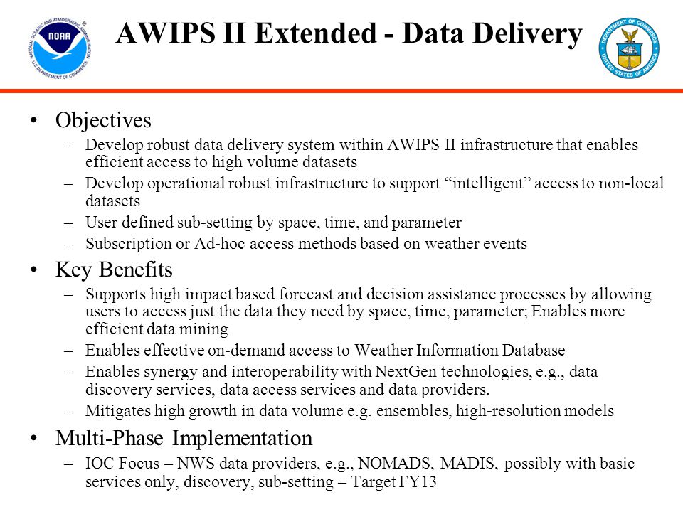 AWIPS II Extended - Data Delivery