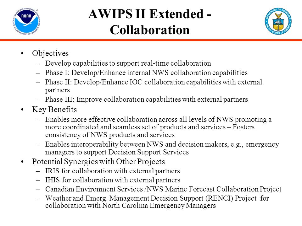AWIPS II Extended - Collaboration