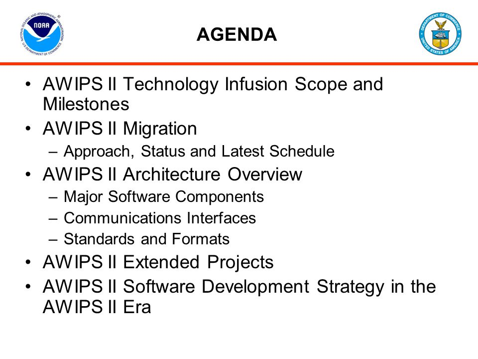AWIPS II Technology Infusion Scope and Milestones AWIPS II Migration