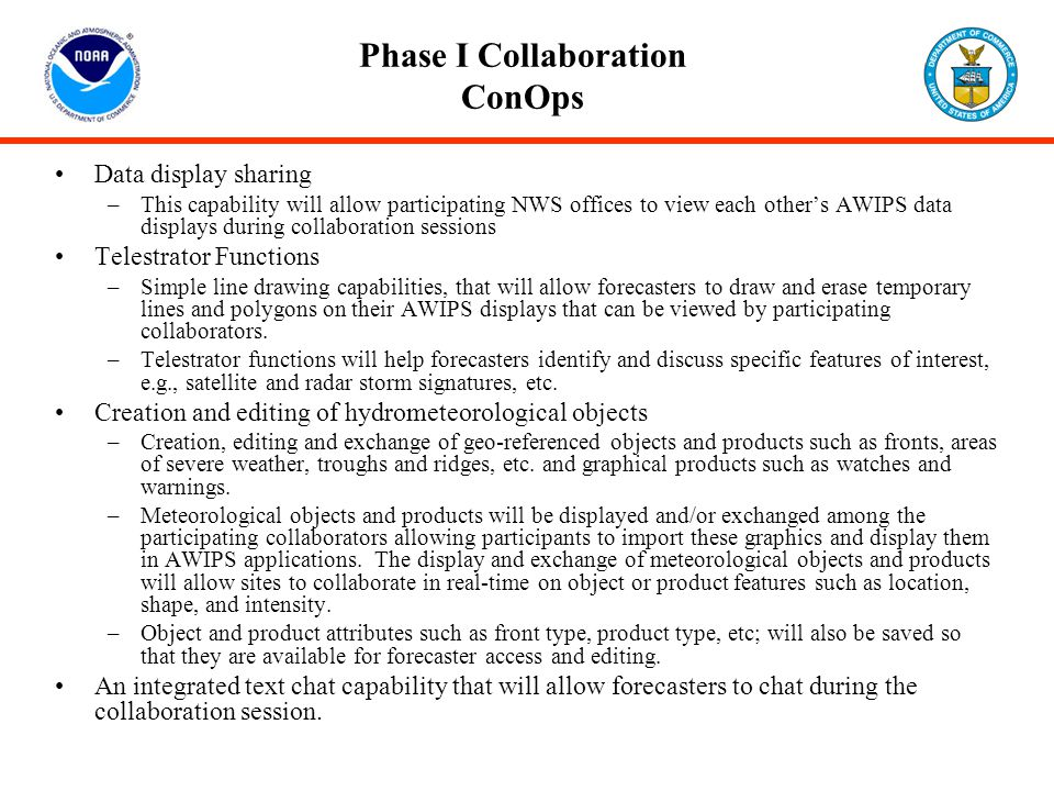 Phase I Collaboration ConOps