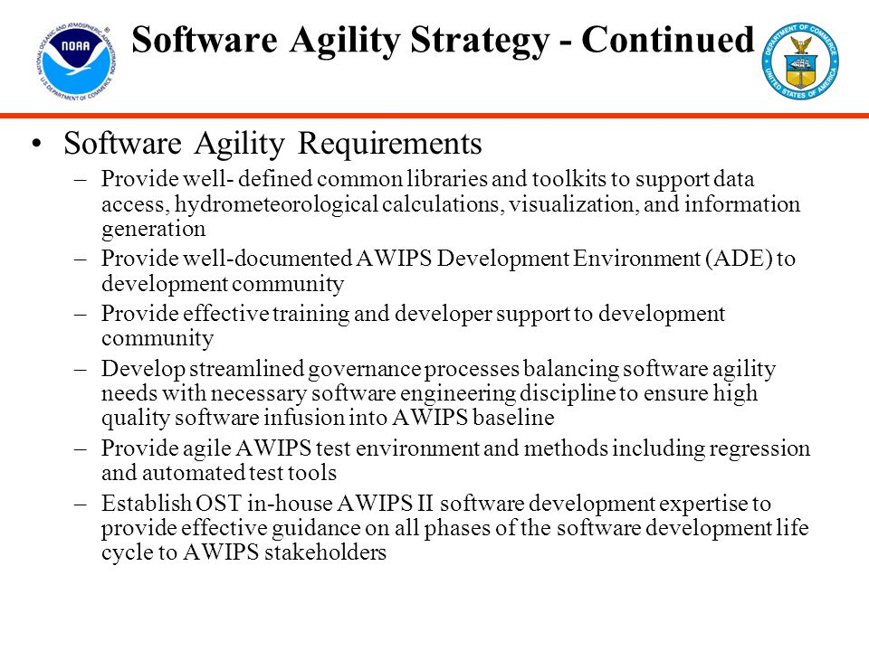 Software Agility Strategy - Continued