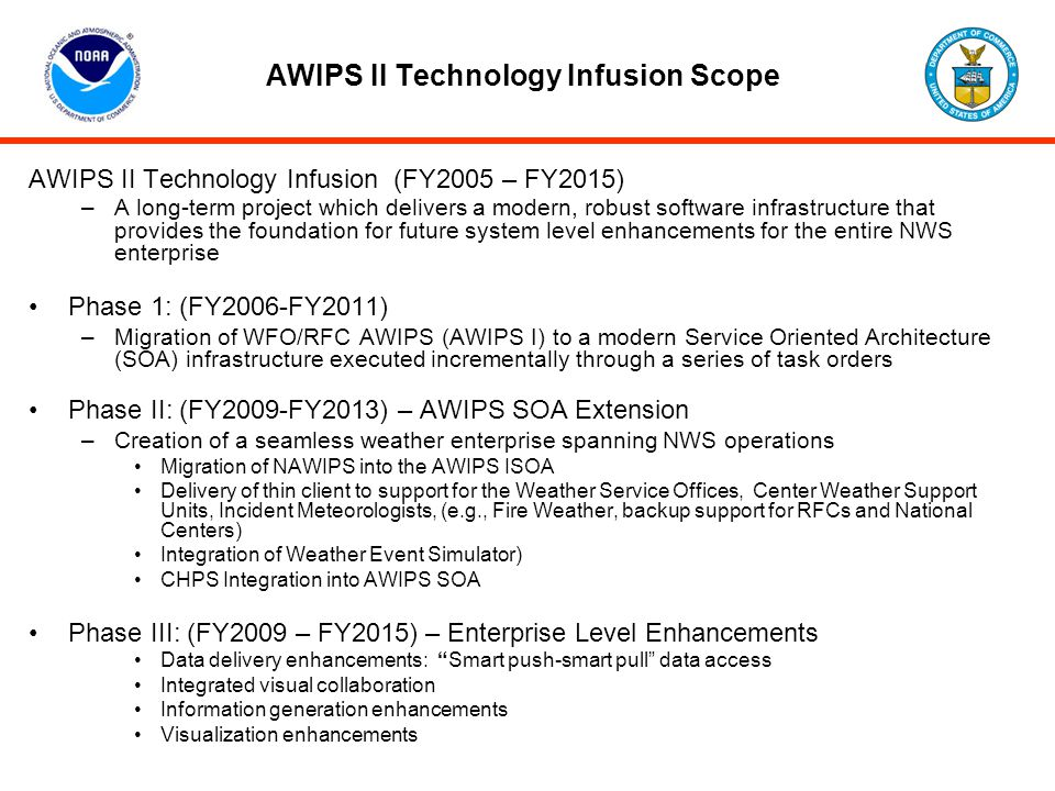 AWIPS II Technology Infusion Scope