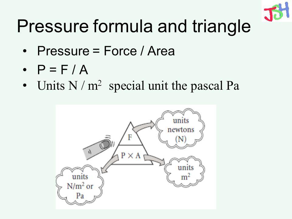 Pressure formula and triangle