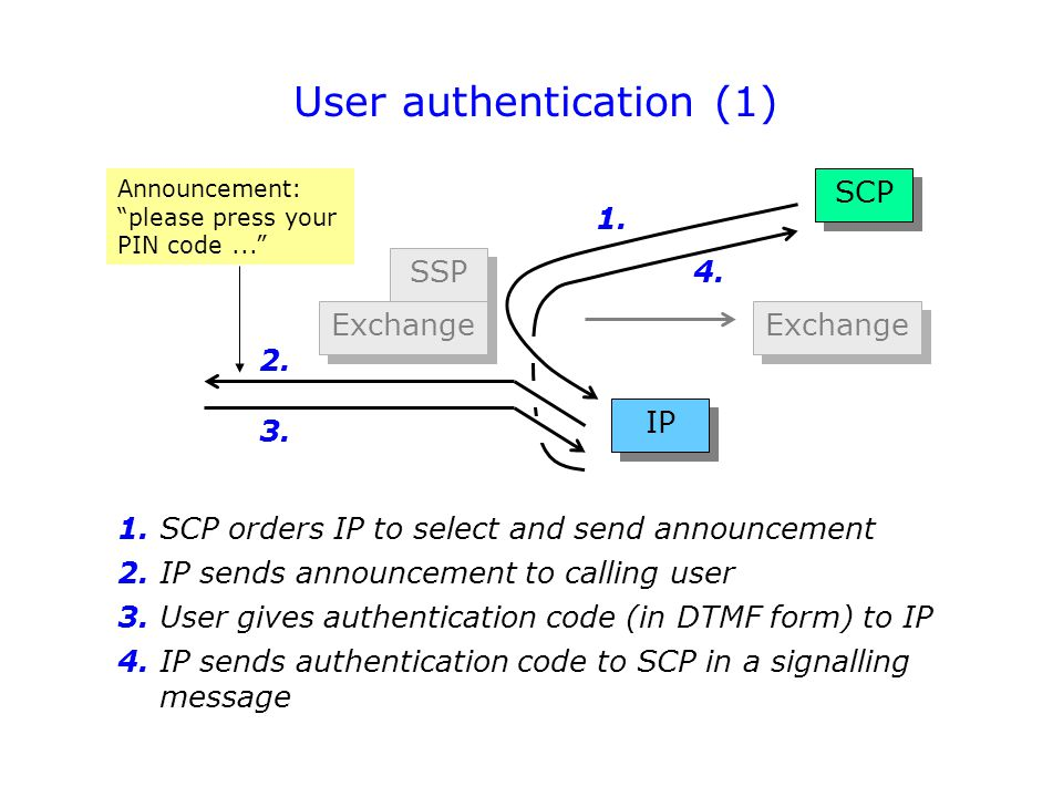 User authentication (1)