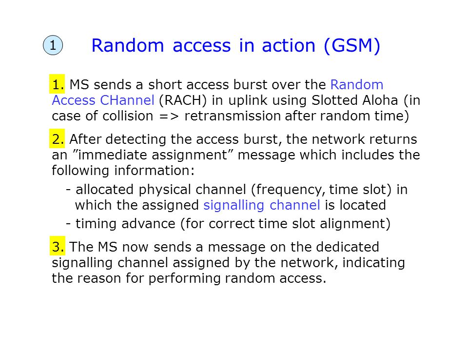 Random access in action (GSM)
