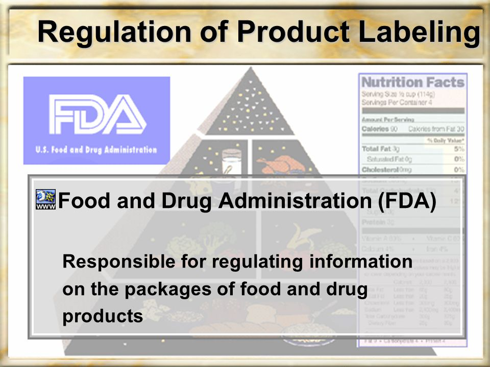 Regulation of Product Labeling