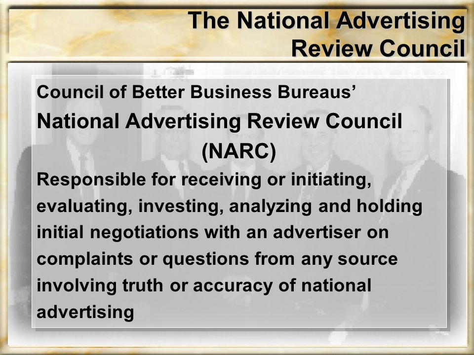 The National Advertising Review Council